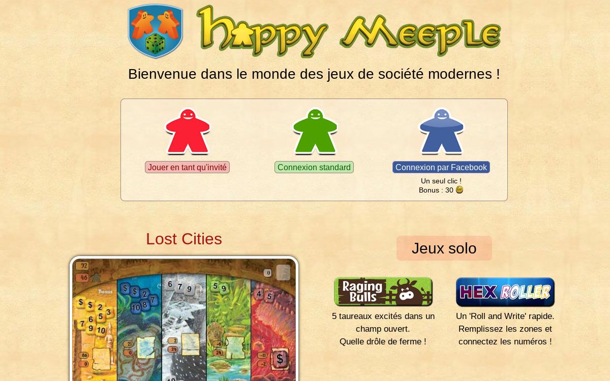 Happy Meeple : jeux gratuits
