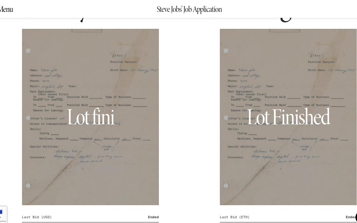 La lettre de candidature de Steve Jobs