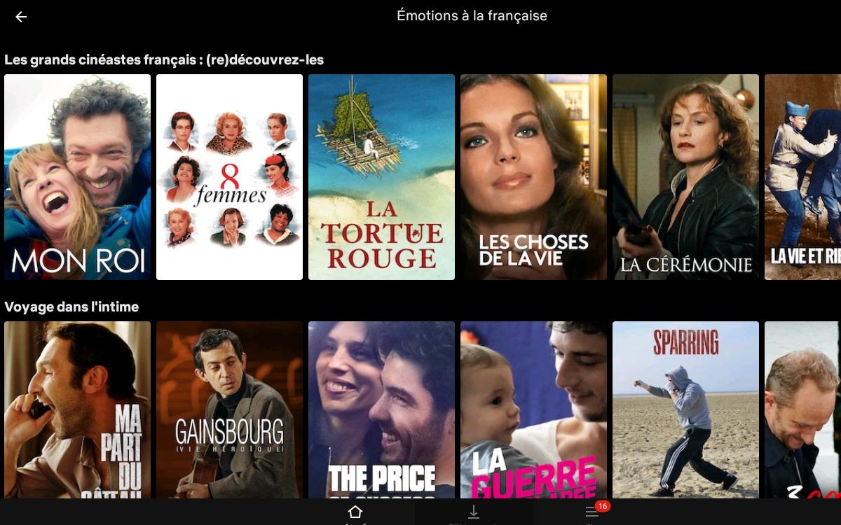 Les collections de cinéma français sur Netflix