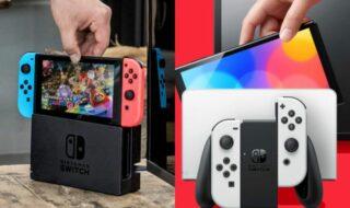 Nintendo Switch vs Switch OLED : quelles sont les différences ?