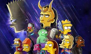 Loki s'invite chez les Simpson