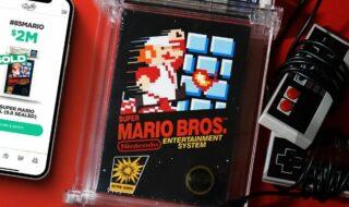 Cette cartouche de Super Mario Bros. s'est vendue 2 millions de dollars, un record