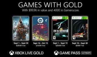 Xbox Games With Gold septembre 2021 : les jeux gratuits du mois