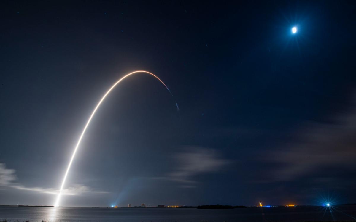 Falcon 9 en route vers l'iSS