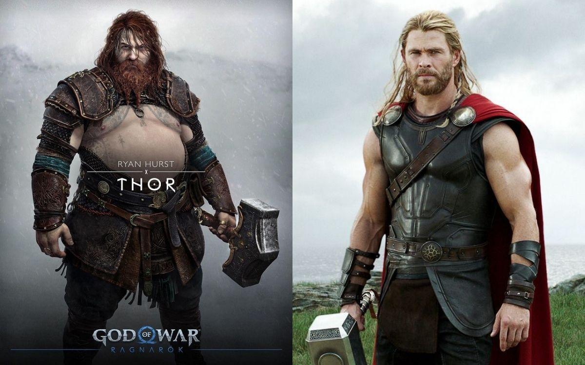 God of War 2 Ragnarok : voici pourquoi Thor ne ressemble pas du tout à Chris Hemsworth