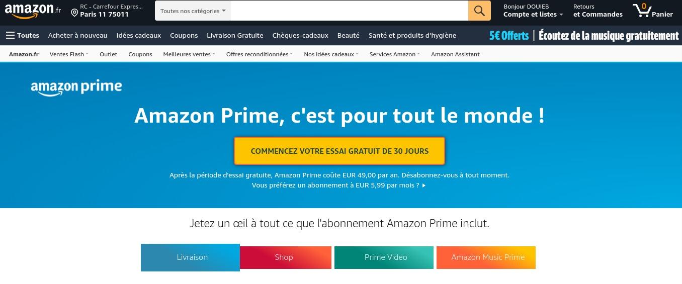 Amazon Prime essai