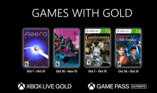 Xbox Games With Gold octobre 2021 : les jeux gratuits du mois