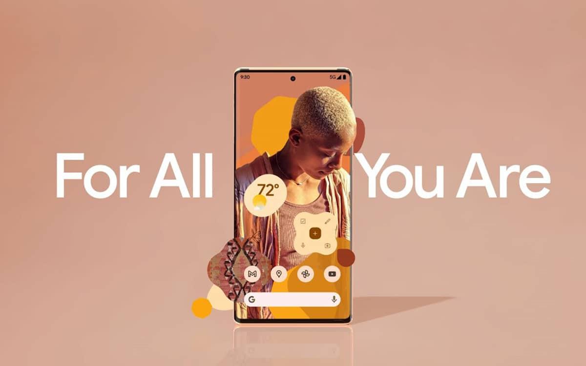 Google Pixel 6 publicité