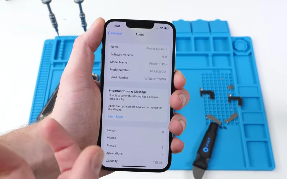 iPhone 13 : Face ID n'est plus pris en charge si vous changez l'écran