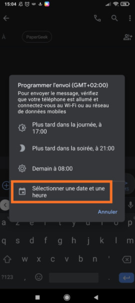Android : programmer SMS