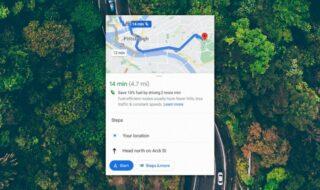 Google Maps indique désormais le meilleur itinéraire pour économiser du carburant