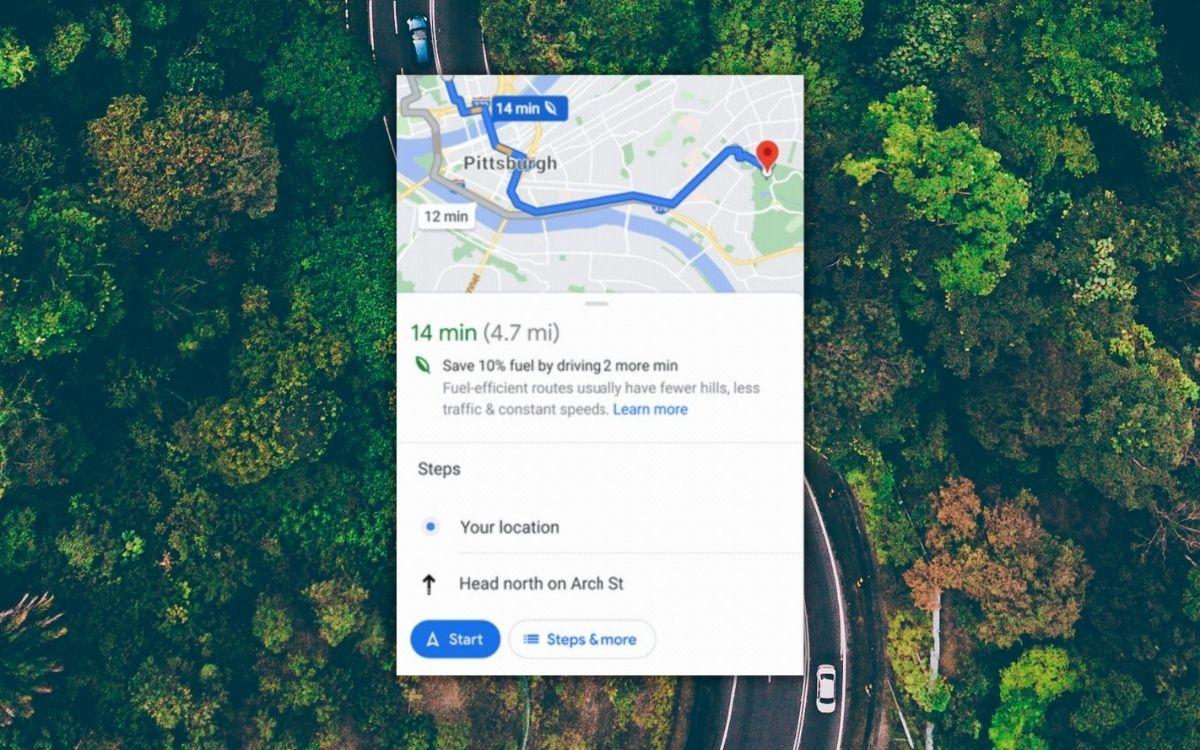 Google Maps écoresponsable