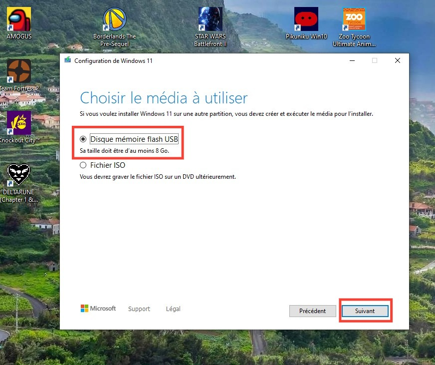 Clé USB d'installation Windows 11