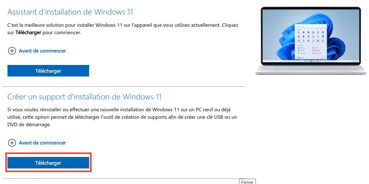 Comment créer une clé USB d'installation de Windows 11