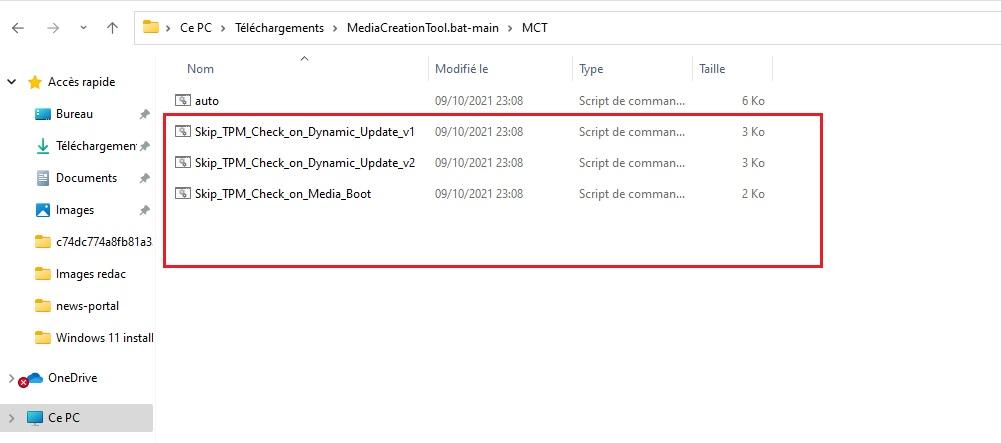 Script pour contourner TPM Windows 11